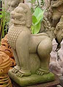 Lion Statue in Sandstone